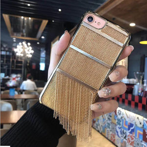 Accessories - ⭐️NEW iPhone X/XS/7/8/7+/8+ gold fringe case